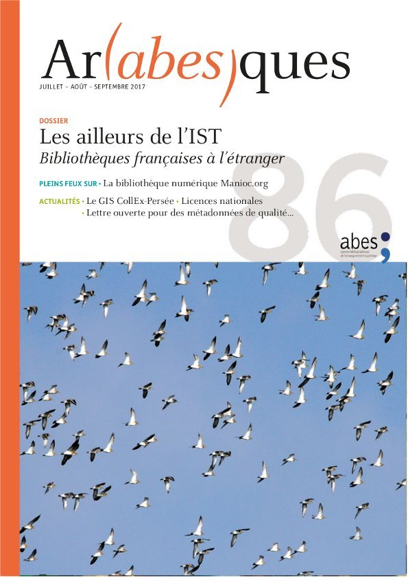 Couverture Arabesques N°86
