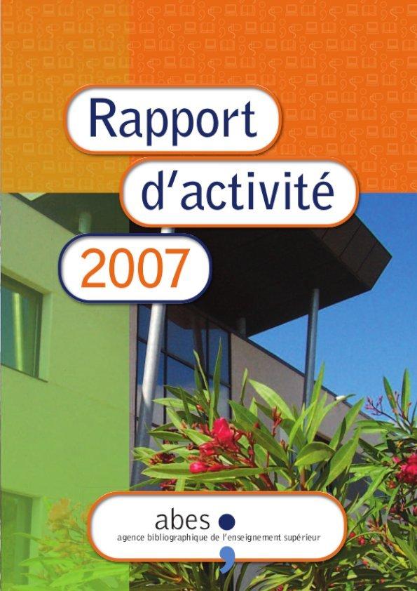 Couverture rapport d'activités 2007