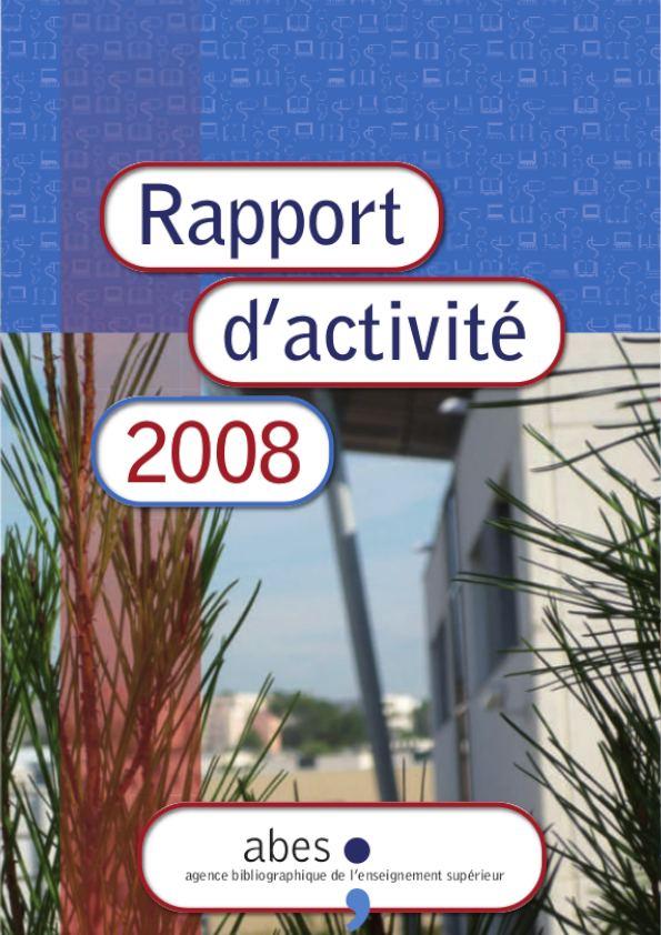 Couverture rapport d'activités 2008