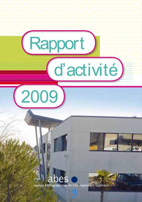 Couverture rapport d'activités 2009