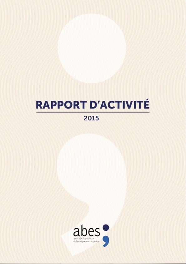 Couverture rapport d'activités 2015
