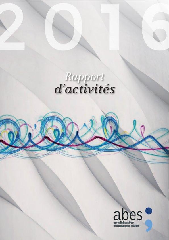 Couverture rapport d'activités 2016