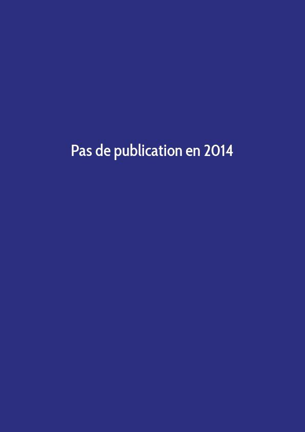 Pas de publication en 2014