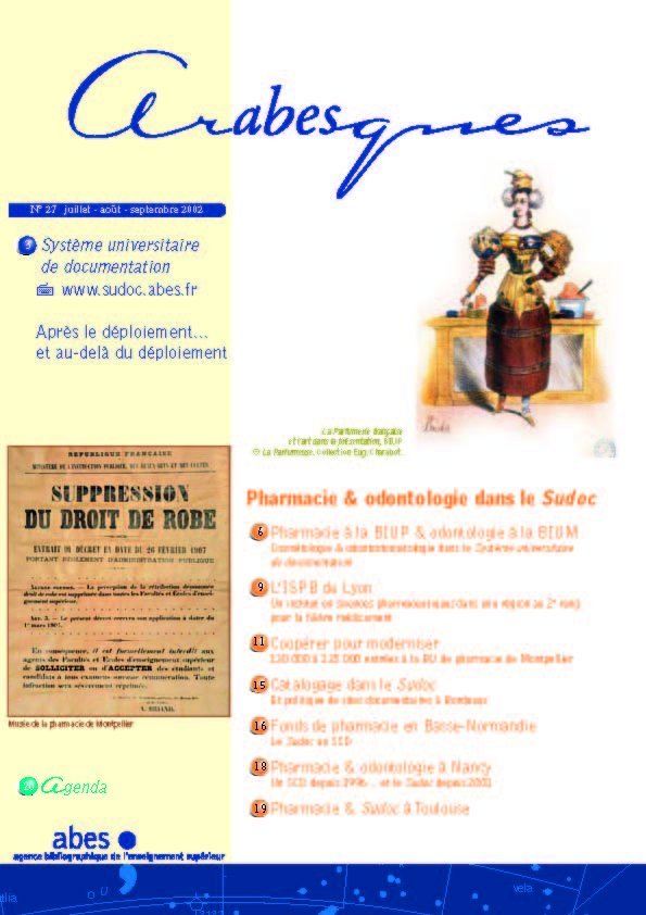 Couverture Arabesques N°27