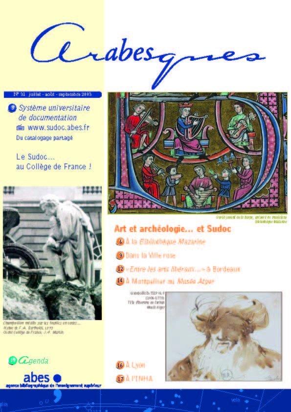 Couverture Arabesques N°31