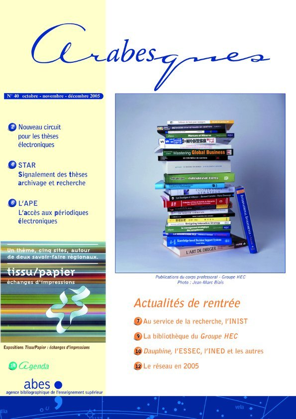 Couverture Arabesques N°40