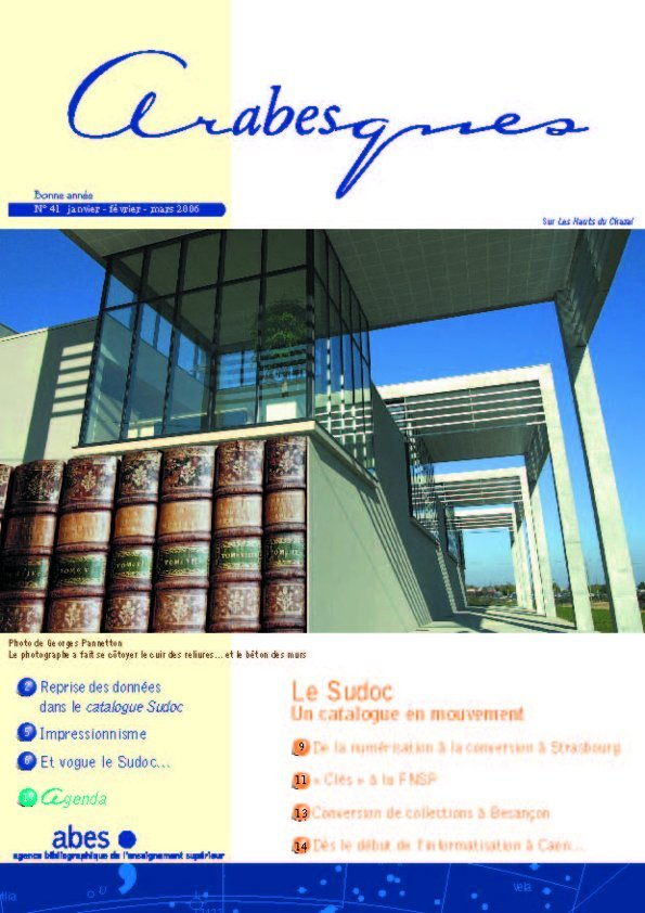 Couverture Arabesques N°41