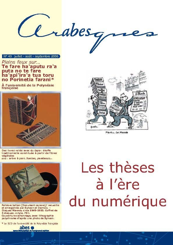 Couverture Arabesques N°43