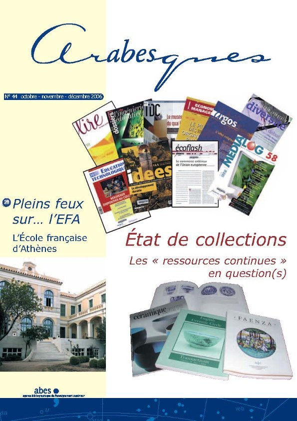 Couverture Arabesques N°44