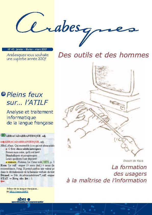 Couverture Arabesques N°45