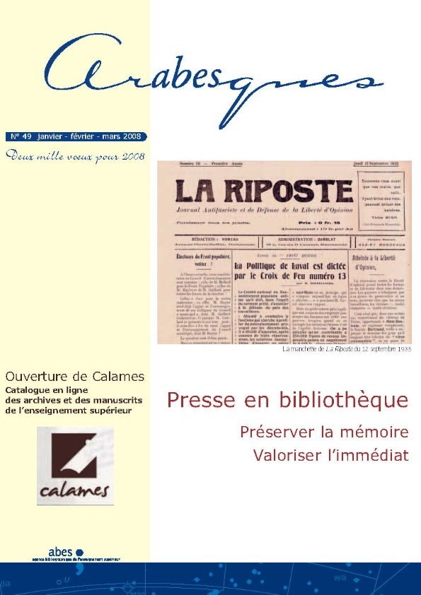 Couverture Arabesques N°49