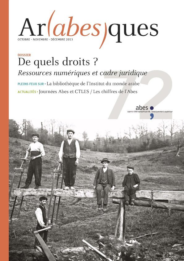 Couverture Arabesques N°72
