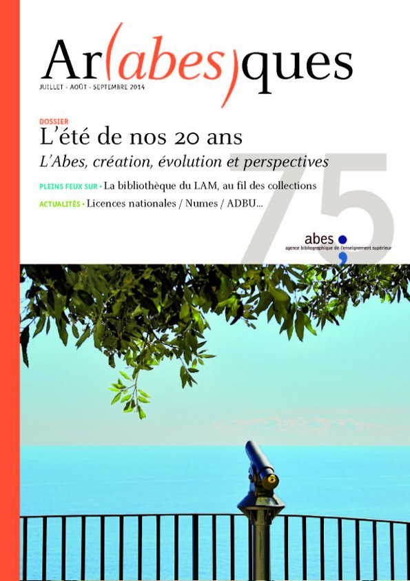Couverture Arabesques N°75