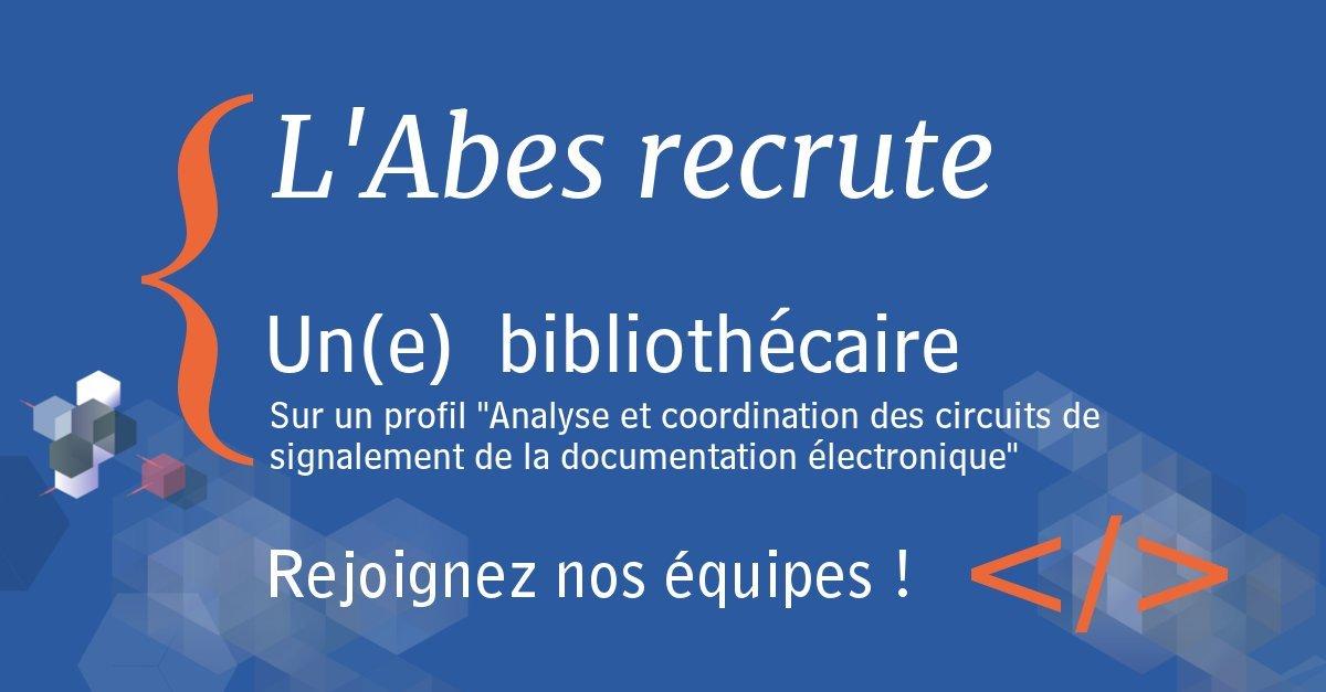 Recrutement bibliothécaire