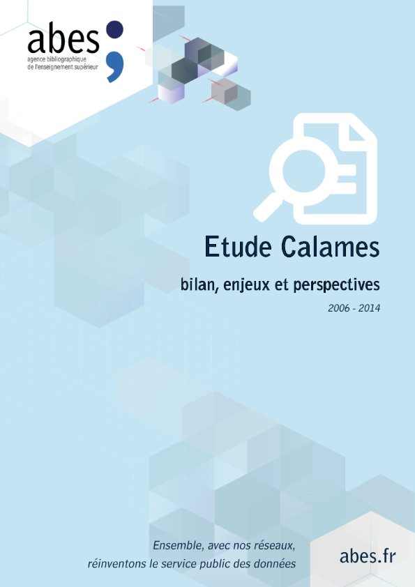 Couverture étude Calames 2006-2014