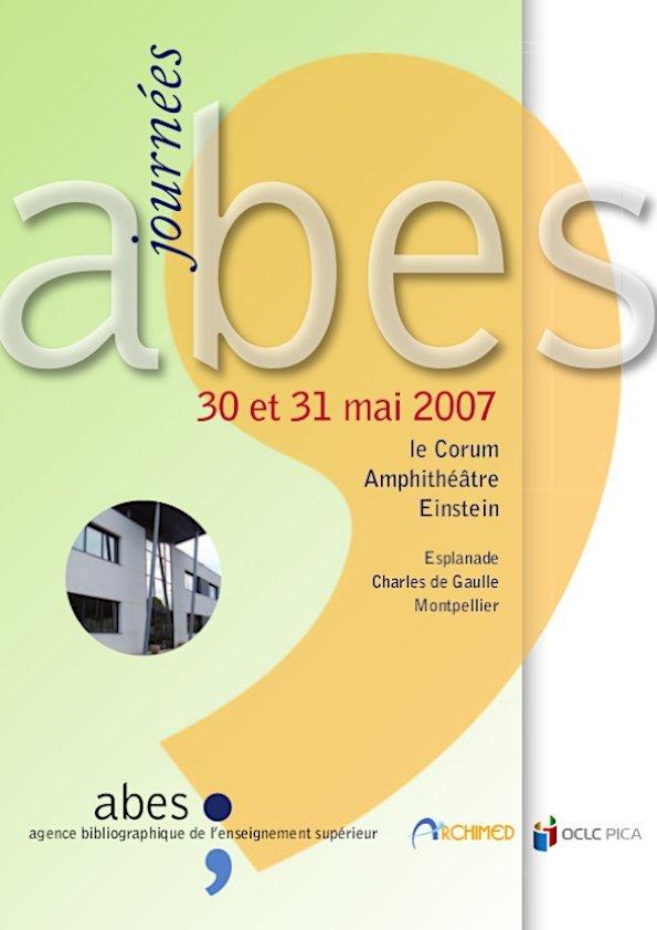 Affiche Journées Abes 2007