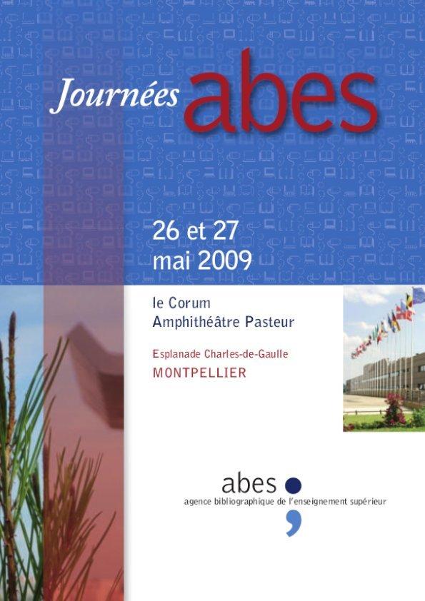 Affiche Journées Abes 2009