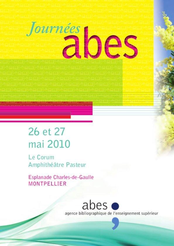Affiche Journées Abes 2010