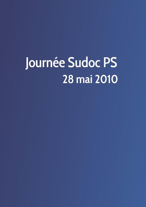 Journée Sudoc PS 2010