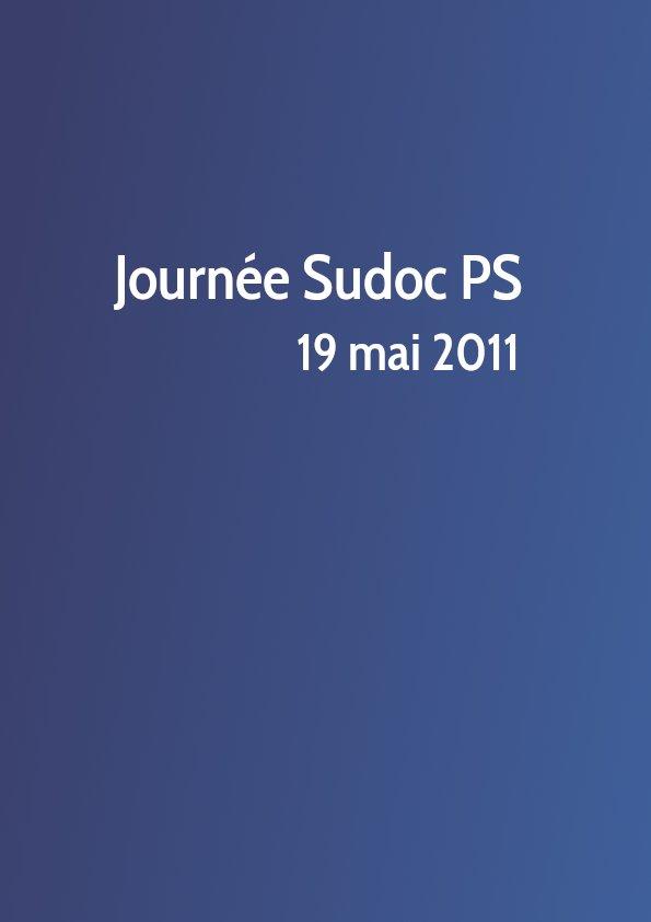 Journée Sudoc PS 2011