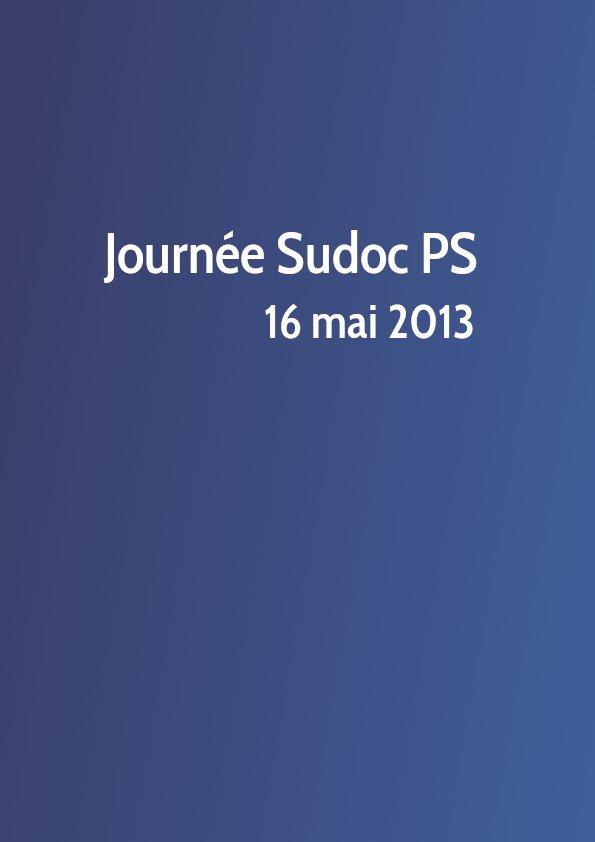 Journée Sudoc PS 2013