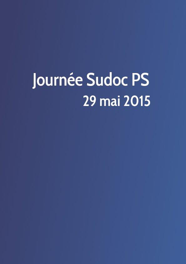 Journée Sudoc PS 2015