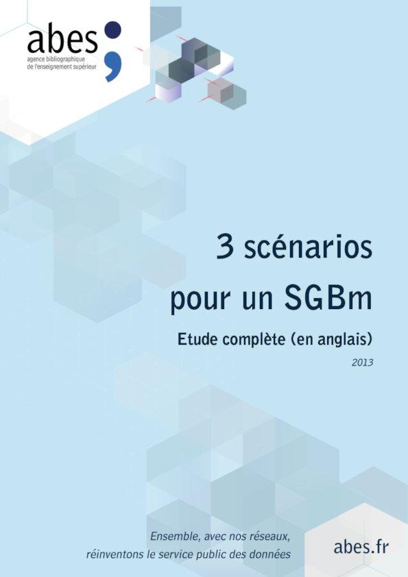 Couverture 3 scénarios pour un SGBm (anglais)