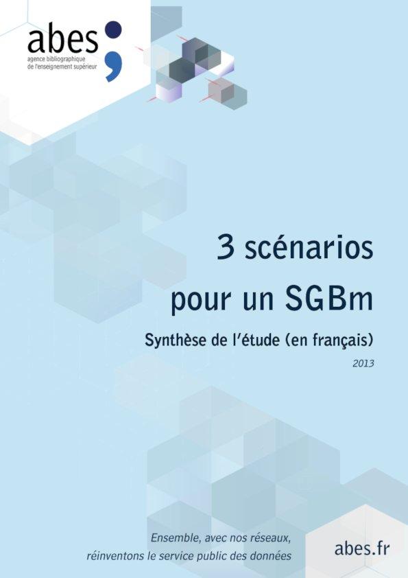 Couverture 3 scénarios pour un SGBm (français)