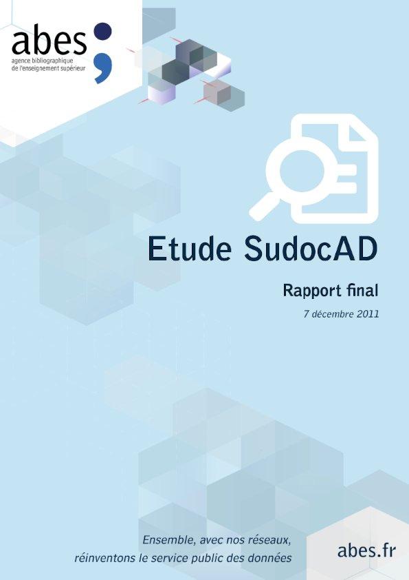 Couverture étude SudocAD rapport final - 2011
