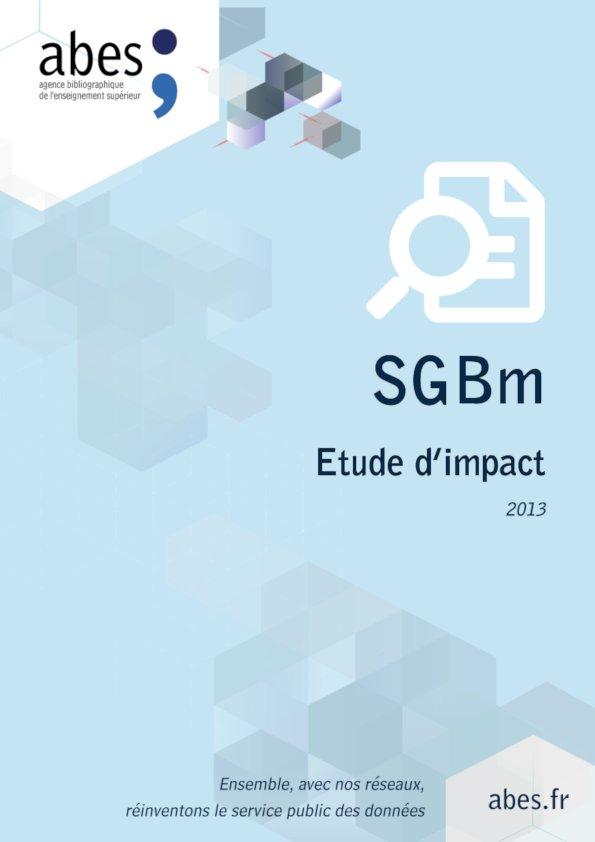 Couverture étude impact SGBm