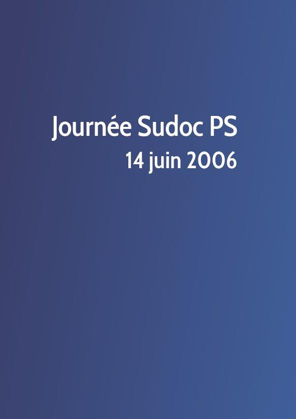 Journée Sudoc PS 2006