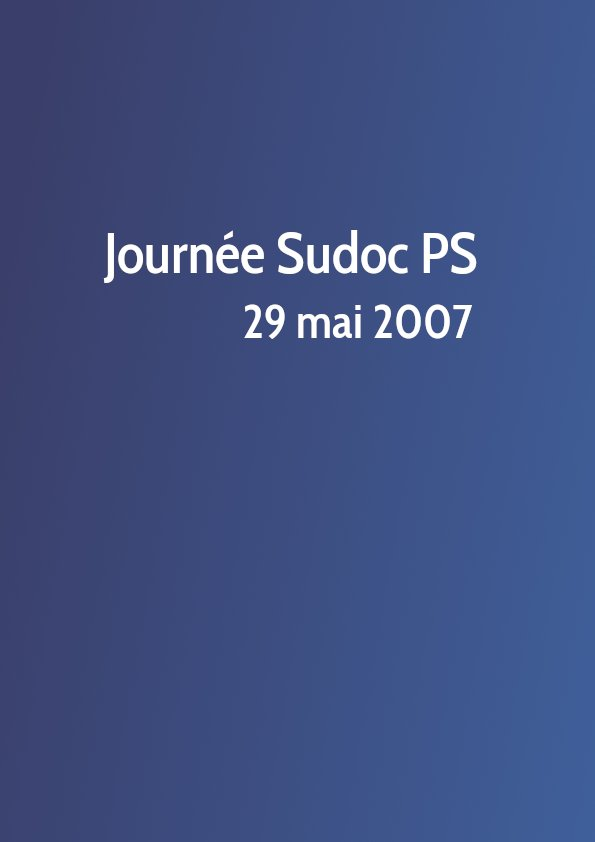 Journée Sudoc PS 2007