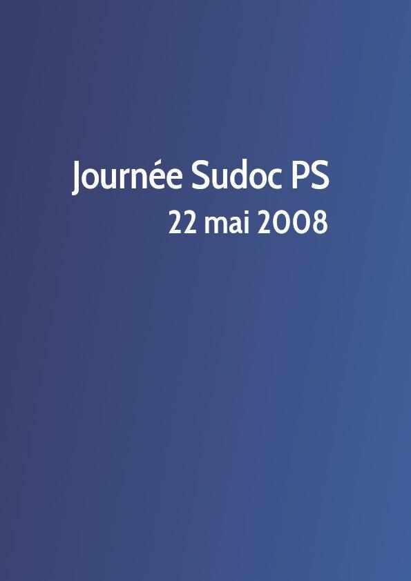 Journée Sudoc PS 2008