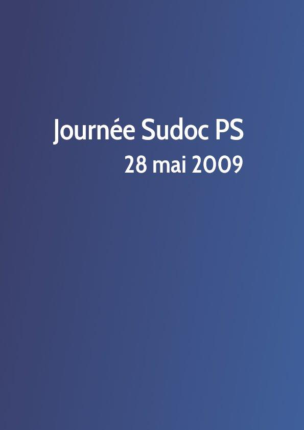 Journée Sudoc PS 2009