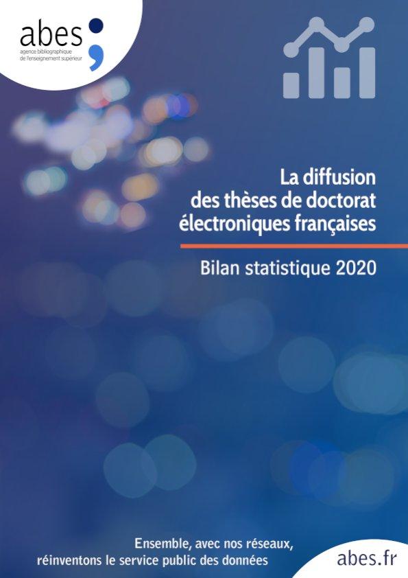 Couverture bilan statistique thèses 2020