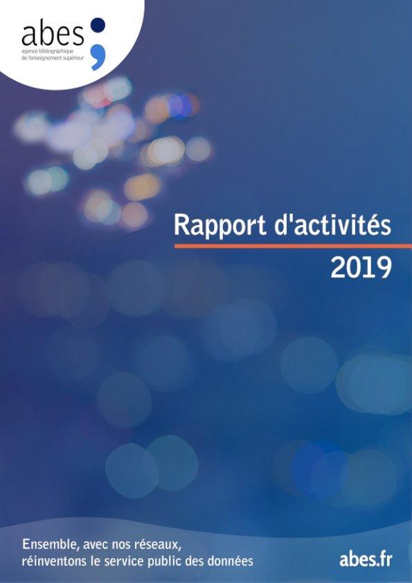 Couverture rapport d'activités Abes 2019