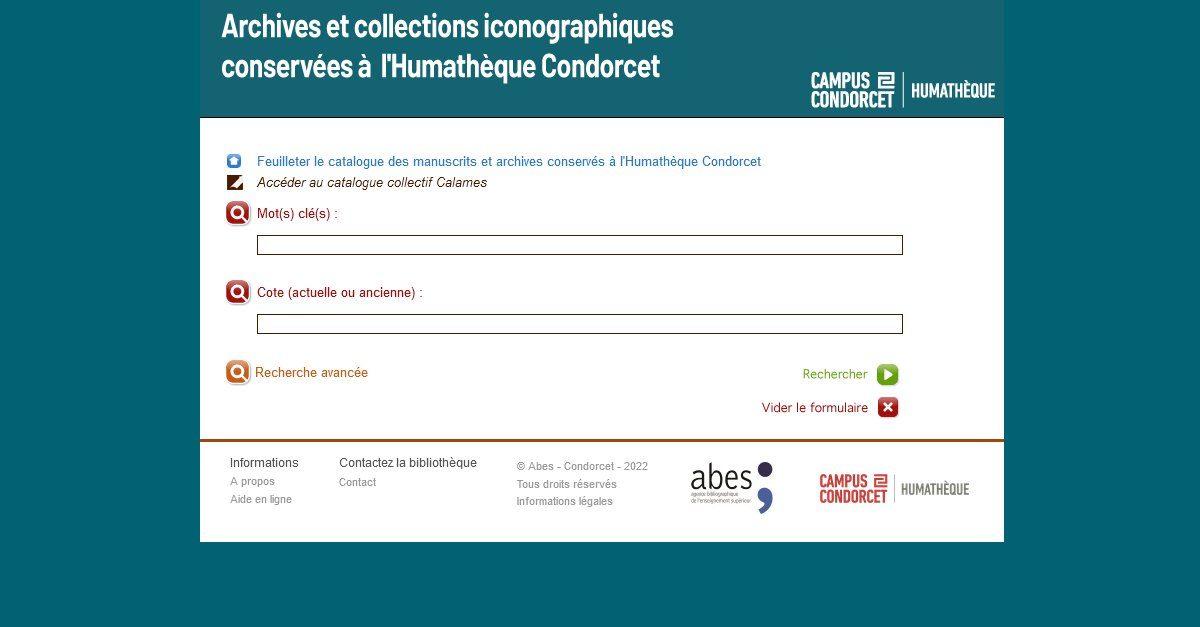 Archives et collections iconographiques du Campus Condorcet