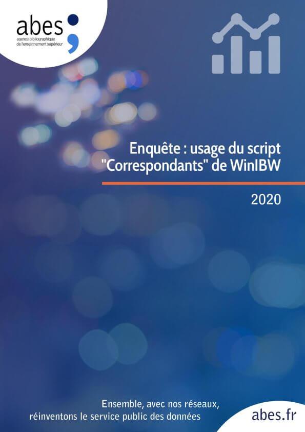 Couverture enquête usage du script Correspondants de WinIBW