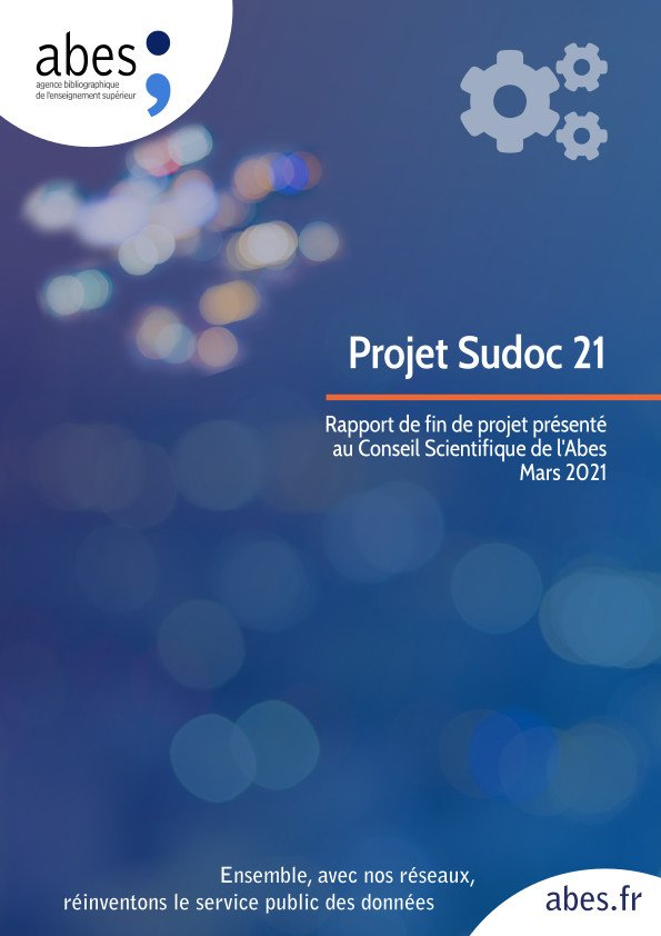 Cover of the end of project report Sudoc 21 - March-2021