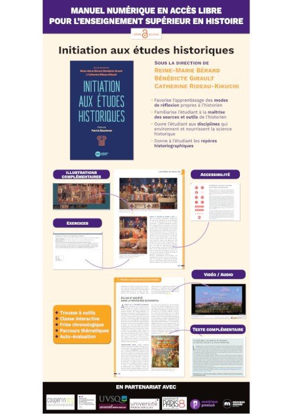 Initiation aux études historiques (Couperin) - Poster journées Abes 2021
